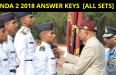 NDA 2 2018 ANSWER KEYS [ALL SETS]