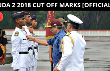 NDA 2 2018 CUT OFF MARKS [OFFICIAL]