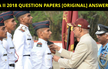 NDA II 2018 QUESTION PAPERS [ORIGINAL] ANSWER KEY