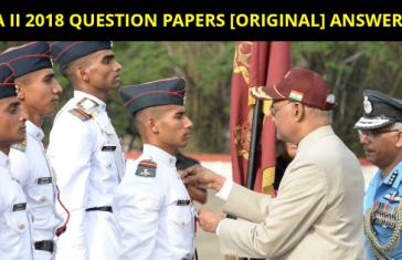 NDA II 2018 QUESTION PAPERS [ORIGINAL] ANSWER KEY