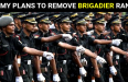 ARMY PLANS TO REMOVE BRIGADIER RANK