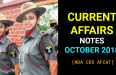 Current Affairs October 2018 For CDS NDA AFCAT SSB Interview [PDF]