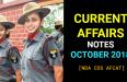 Current Affairs October 2018 For CDS NDA AFCAT SSB Interview [PDF]
