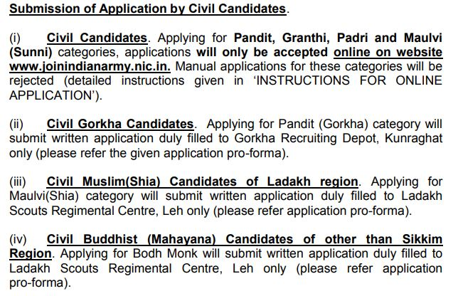 Indian Army Religious Teacher Apply