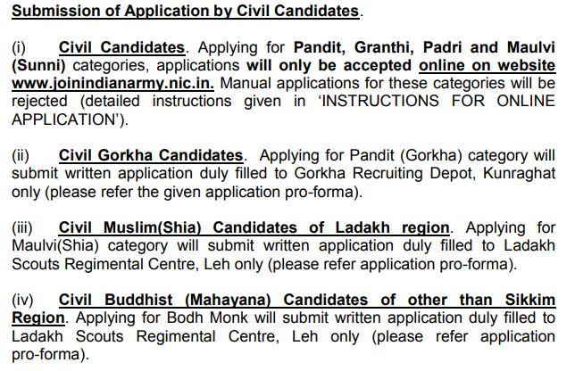 Indian Army Religious Teacher Apply