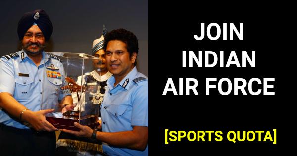 Indian Air Force Sportsmen Recruitment 2019 [Sports Quota]