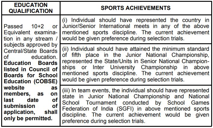 indian airforce sports quota
