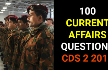 CURRENT AFFAIRS CDS EXAM