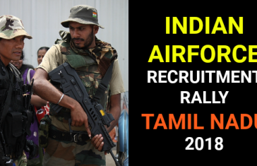 INDIAN AIRFORCE RECRUITMENT RALLY TAMIL NADU 2018
