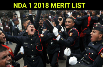 NDA 1 2018 MERIT LIST