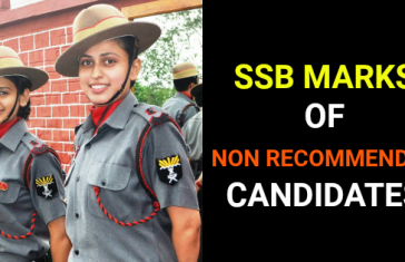 SSB MARKS OF NON RECOMMENDED CANDIDATES