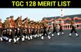 TGC 128 MERIT LIST