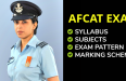 AFCAT Syllabus, Marking Scheme, Subject, Exam Pattern