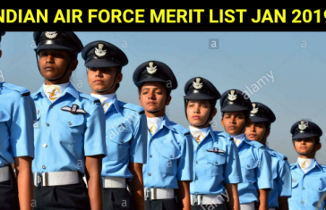 Indian Air Force Merit List Jan 2019 – 96 Candidates Cleared