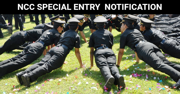 NCC SPECIAL ENTRY NOTIFICATION