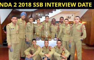 NDA 2 2018 SSB INTERVIEW DATE