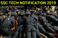 SSC TECH NOTIFICATION 2019