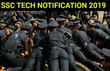 SSC TECH NOTIFICATION 2019