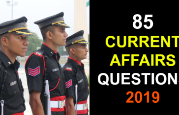 85 CURRENT AFFAIRS QUESTIONS 2019