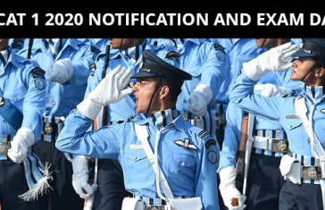 AFCAT 1 2020 NOTIFICATION AND EXAM DATE