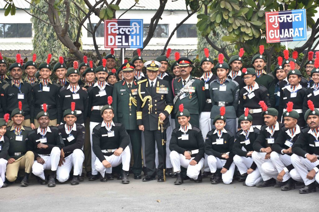 Naval Chief lauds NCC cadets at DGNCC Republic Day Camp 2019