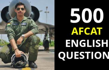 500 AFCAT English Questions - AFCAT 1 2019