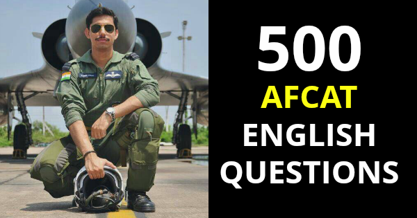 500 AFCAT ENGLISH QUESTIONS