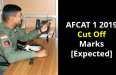 AFCAT 1 2019 Cut Off Marks [Expected]