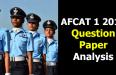 AFCAT 1 2019 Question Paper Analysis