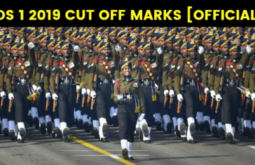 CDS 1 2019 CUT OFF MARKS [OFFICIAL]