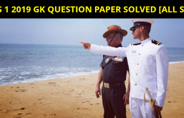 CDS 1 2019 GK QUESTION PAPER SOLVED [ALL SETS]