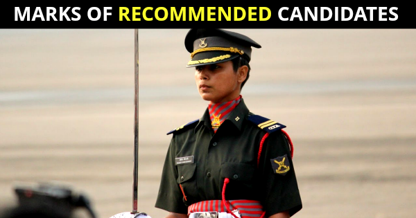 CDS AND SSB INTERVIEW MARKS OF RECOMMENDED CANDIDATES