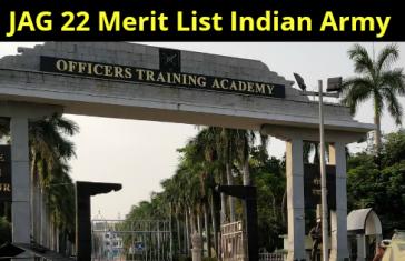 JAG 22 Merit List Indian Army