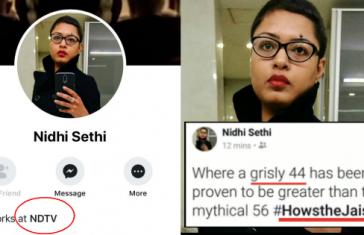 Nidhi Sethi NDTV Mocked CRPF Jawans
