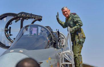 Indian Army Chief Bipin Rawat Flies Tejas