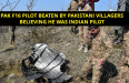 PAK F16 Pilot Beaten By Pakistani Villagers believing He Was Indian Pilot