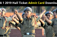NDA 1 2019 Hall Ticket Admit Card Download