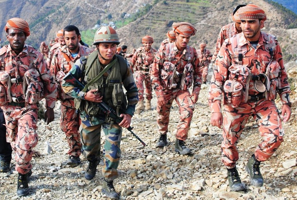 joint exercise between India and Oman