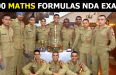 100 MATHS FORMULAS NDA EXAM