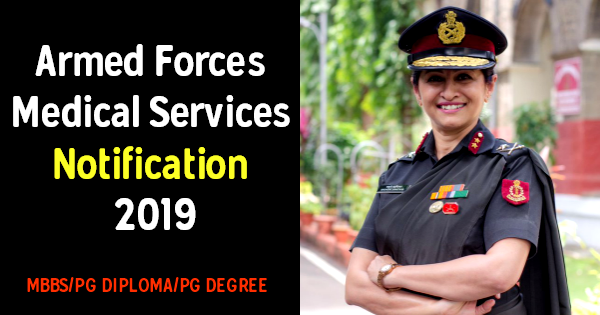 Armed Forces Medical Services Notification 2019