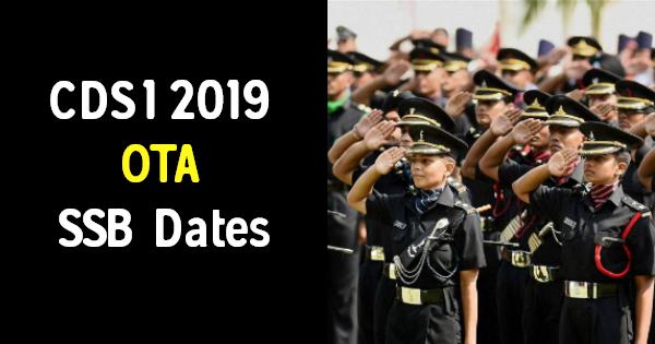 CDS 1 2019 OTA SSB Dates