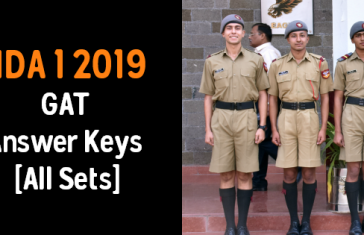 NDA 1 2019 GAT Answer Keys [All Sets]