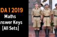 NDA 1 2019 Maths Answer Keys [All Sets]