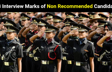 SSB Interview Marks of Non Recommended Candidates