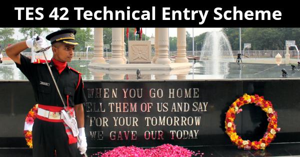 TES 42 Technical Entry Scheme