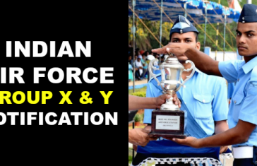 INDIAN AIR FORCE GROUP X & Y NOTIFICATION