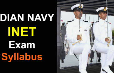 INDIAN NAVY INET Exam Syllabus