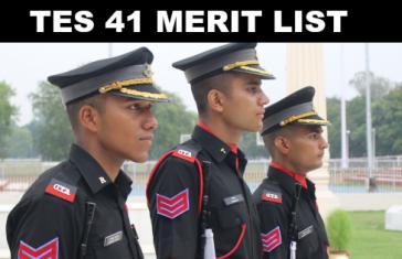 TES 41 Merit List