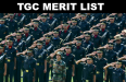 TGC MERIT LIST