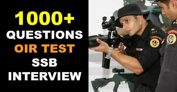1000+ QUESTIONS OIR TEST SSB INTERVIEW